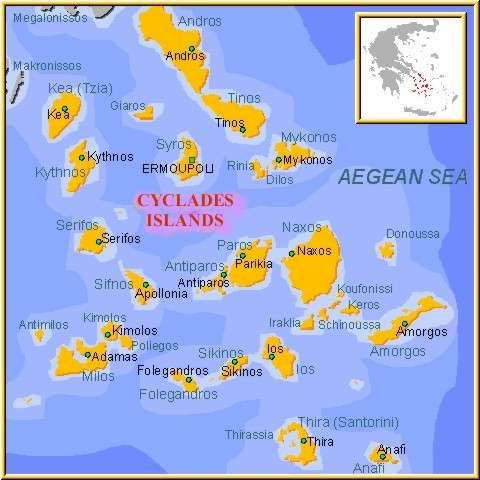 Map of Cyclades Islands!