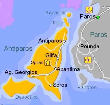 Map of Antiparos Island